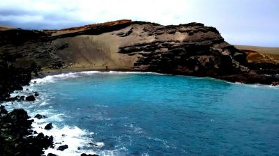 Green Sand Beach, South Point Hawaii