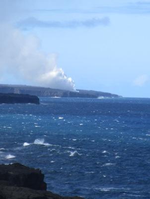 Steam from Lava Ocean Entry