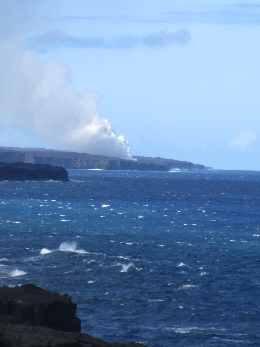 Steam from Lava Ocean Entry