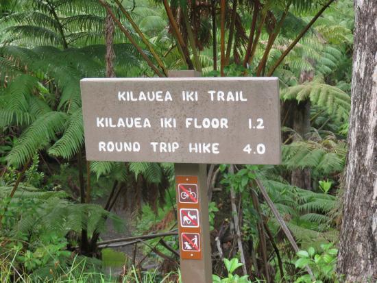 Kilauea Iki Trail sign
